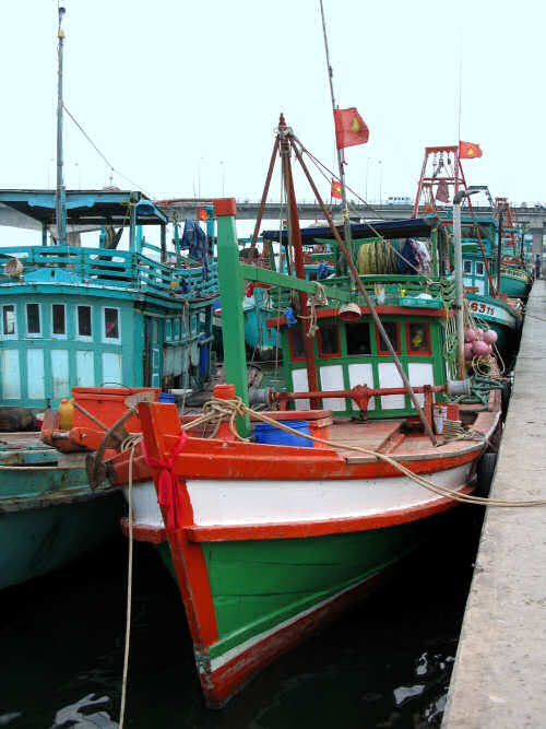 Gulf Coast Motor Fishing Vessel at Ha Tien