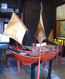 Sailing Freighter Model in Hoi An, Vietnam