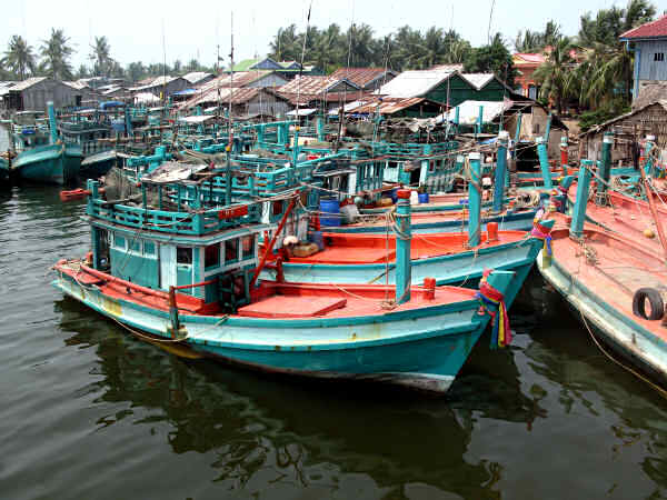 Boat Moorage near Kampot