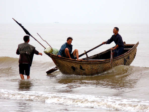 Sam Son Bamboo Basket Boat