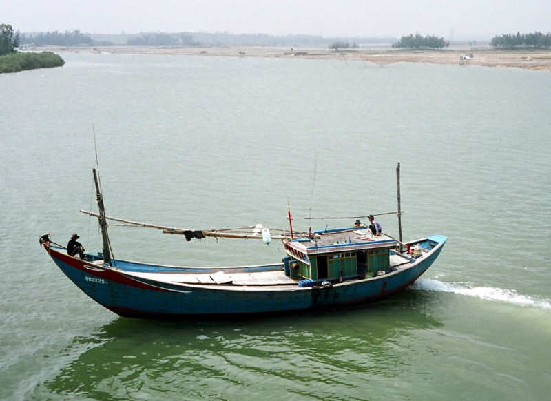 Asian river boat boat